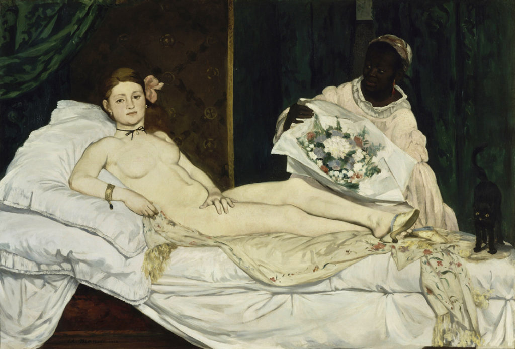 "Картина с изображением проститутки. Эдуард Мане ""Нана"""